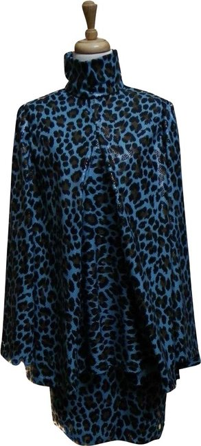 Preload https://img-static.tradesy.com/item/22995089/muted-turquoise-leopard-print-vegan-leather-tunic-and-skirt-mid-length-workoffice-dress-size-8-m-0-1-650-650.jpg
