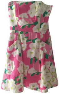 Lilly Pulitzer short dress Pink and green Wedding on Tradesy