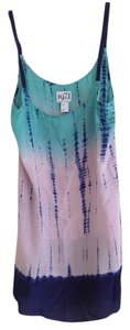 Reiss short dress teal/pink/indigo on Tradesy