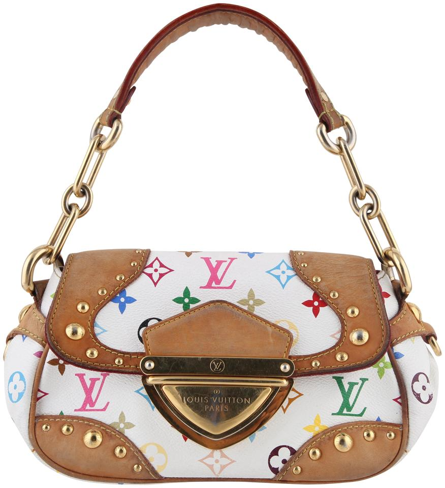 4ac1baaad9b1 Louis Vuitton Beverly Mm Multicolor Monogram White Coated Canvas ...