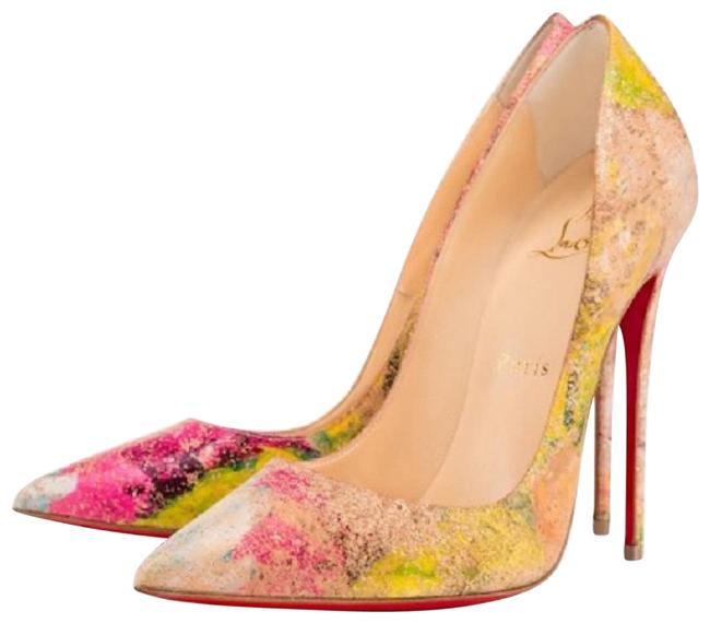 Christian Louboutin Beige So Kate Blooming Cork Multi Color Stiletto Pumps Size EU 35 (Approx. US 5) Regular (M, B) Christian Louboutin Beige So Kate Blooming Cork Multi Color Stiletto Pumps Size EU 35 (Approx. US 5) Regular (M, B) Image 1
