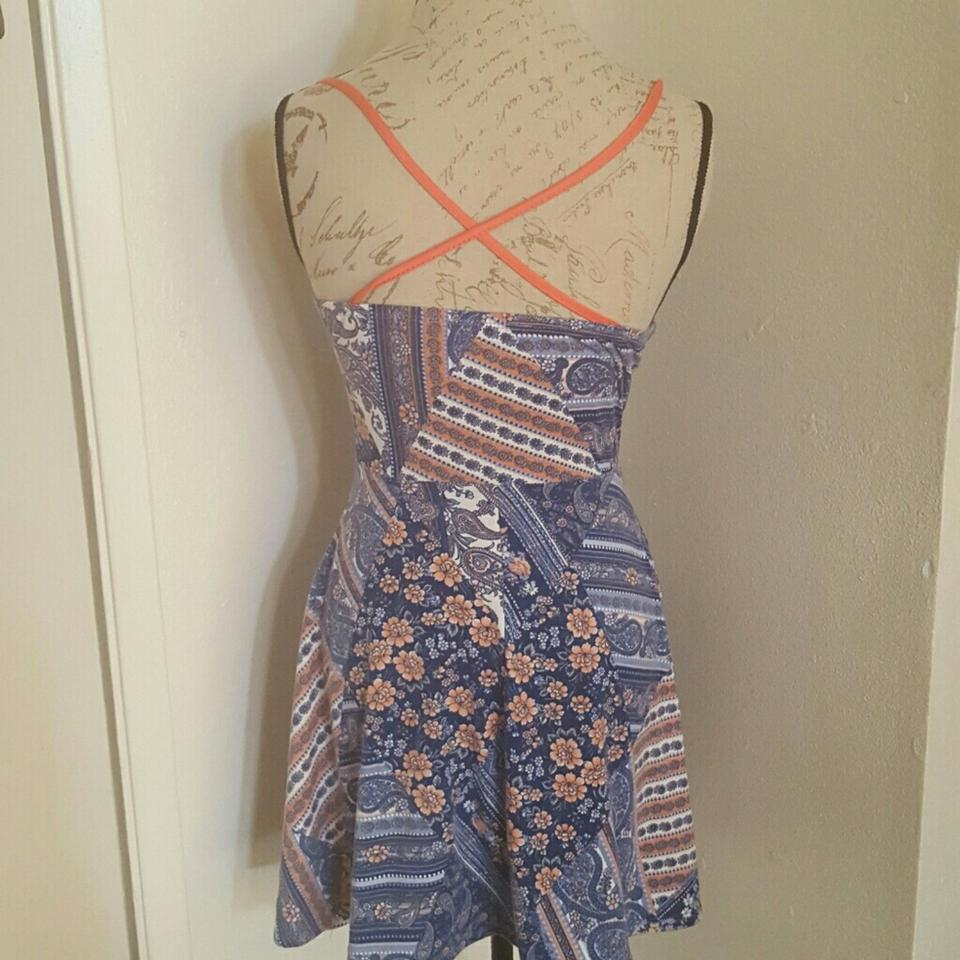 French Atmosphere Multicolored Spaghetti Short Casual Dress Size OS ... 454448bdf