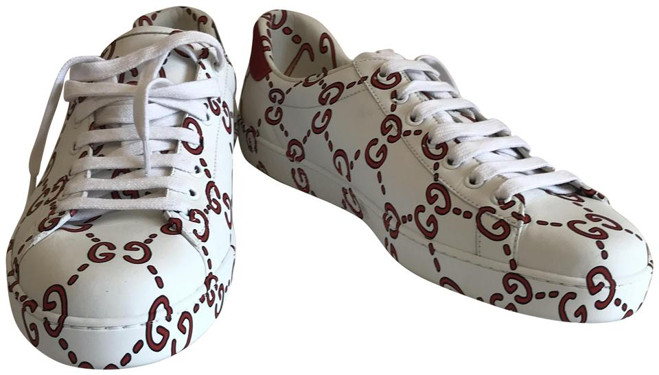 f2eee6e2c5a Gucci White Men s New Ace Guccighost Sneaker Sneakers Size US 9.5 ...