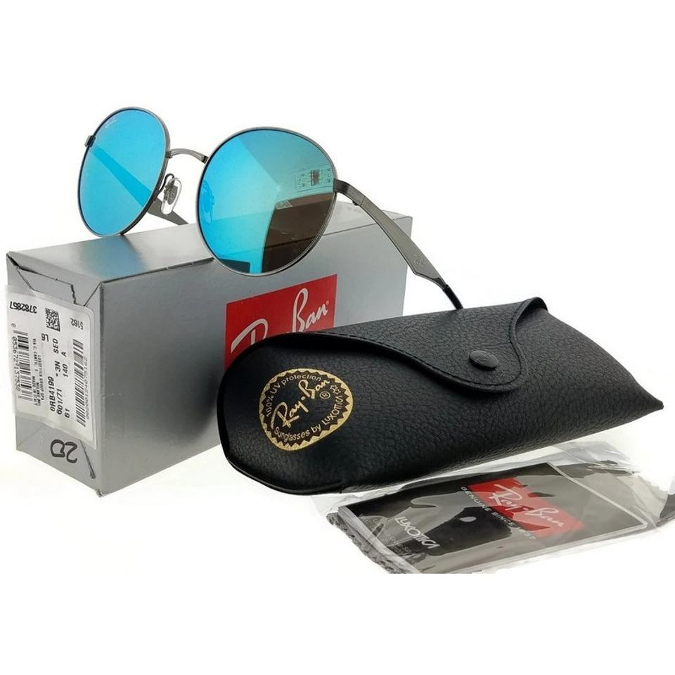 f1f6a60963b6e Ray-Ban RB3537-004-55 Highstreet Men s Gunmetal Frame Blue Lens Sunglasses  Image. 1234