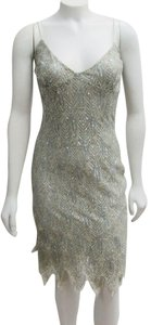 Collette Dinnigan Beaded Embroidered Evening Sequins Dress