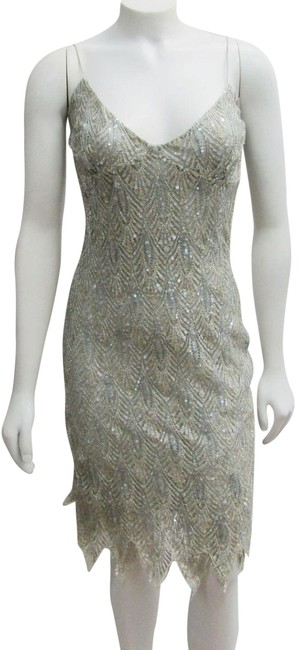 Item - Green Multi XS Lace Beaded Evening Sequins Short Cocktail Dress Size 2 (XS)