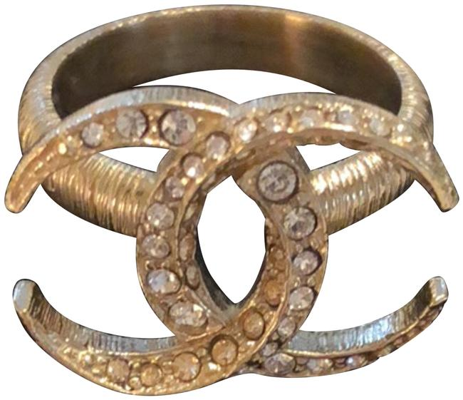 Item - Brushed Gold/Crystals A85453 Ring
