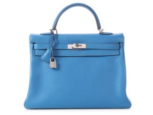 Hermès Palladium 35 Hr.p0212.05 Strap Satchel in Blue