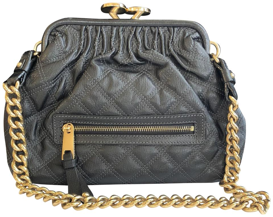 8131027ba42e Marc Jacobs Little Stam Cross Body Black Leather Shoulder Bag - Tradesy