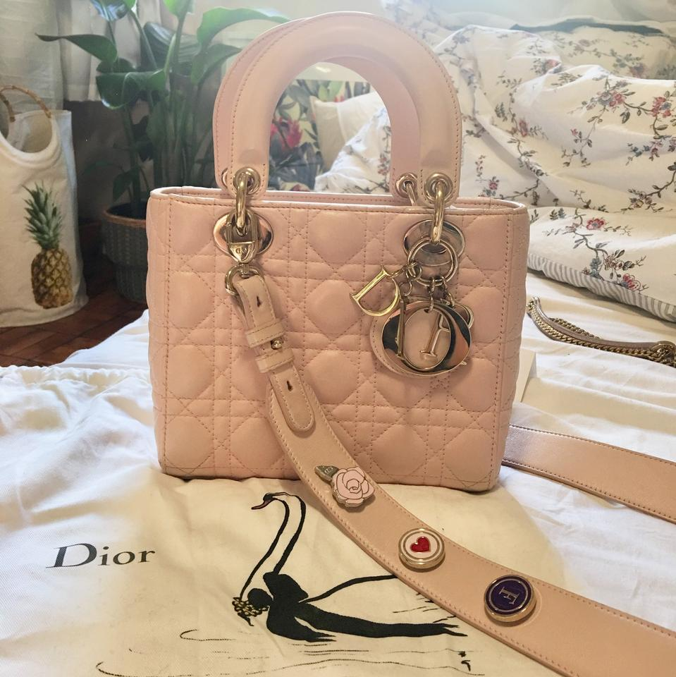 7a8cf8476a6d Dior Lady Dior My Lady Dior 2017 My Lucky Badges Pink Lambskin ...