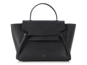 Céline Gold Logo Roomy Suede Ce.p0205.10 Satchel in Black Belt Bag