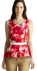 Romeo & Juliet Couture Peplum Open Back Top Floral