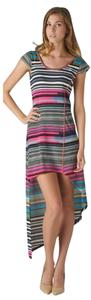 Esley short dress Multi Assymetrical Striped on Tradesy