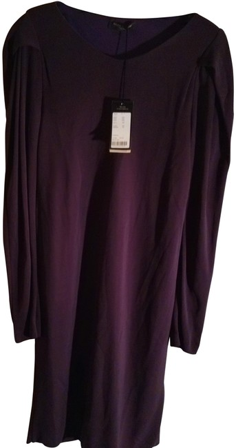 Item - Eggplant 44 Made In Italy Deep Mid-length Work/Office Dress Size 10 (M)