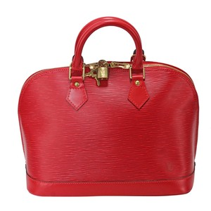 Louis Vuitton Speedy Neverfull Lv Mono Epi Leather Tote in Red