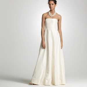 J.Crew Ivory Silk Taffeta Sabine Destination Wedding Dress Size 8 (M)