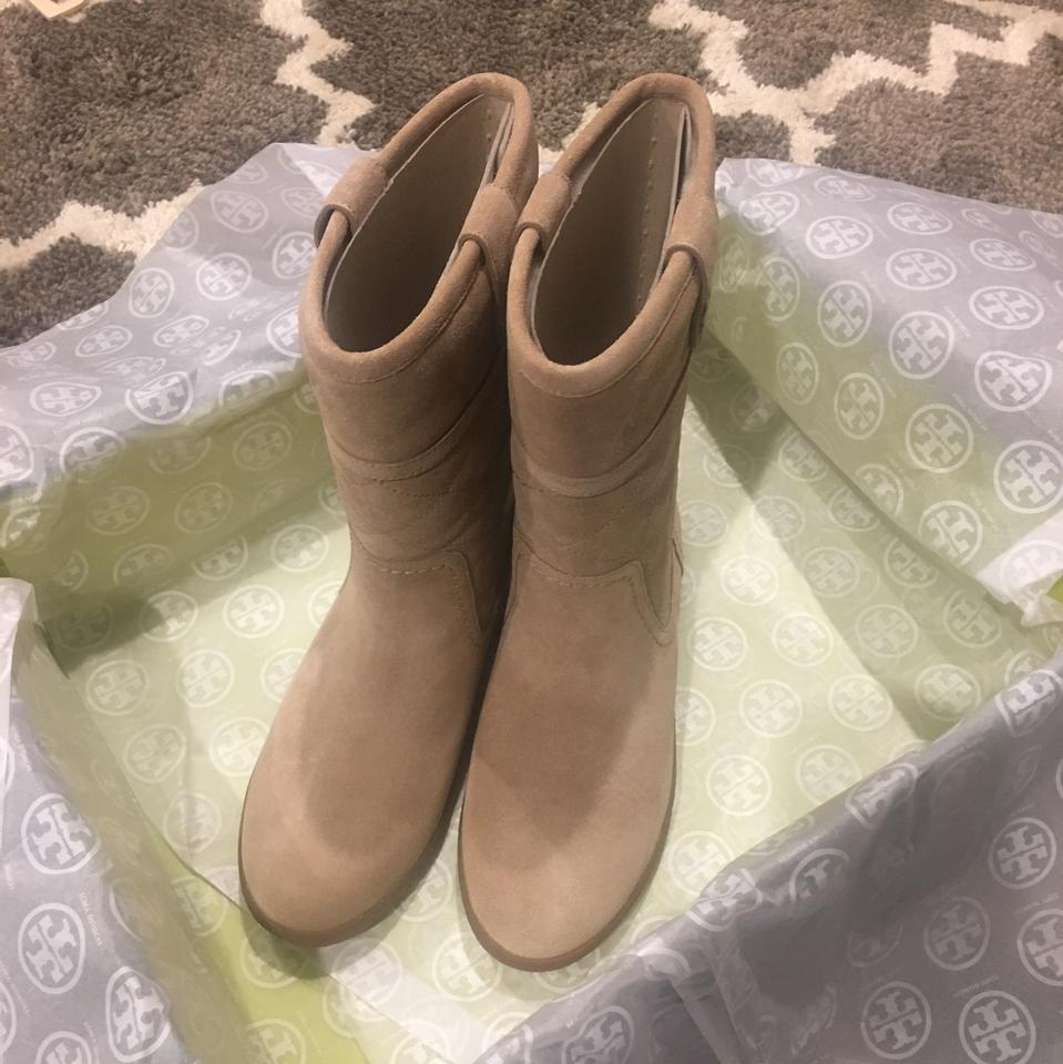 9fb6512daa7e3 Tory Burch Light Camel Natural Alana Boots Booties Size US 7 Regular ...