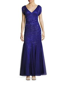 Alberto Makali Sequin Embellish Gown Stylish Back Accent Imported Dress