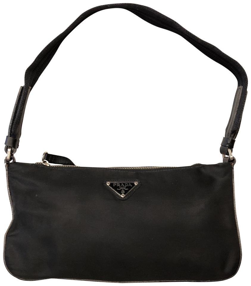 042e2fc62927 Prada Borsa In Tessuto B9935 Vela Black Nylon and Leather Shoulder ...