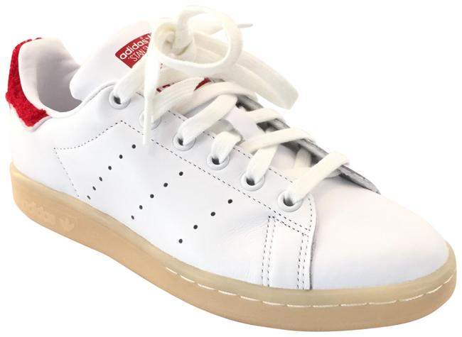 Item - White/Red Stan Smith Winter Terry-trimmed Leather Sneakers Size US 6 Regular (M, B)