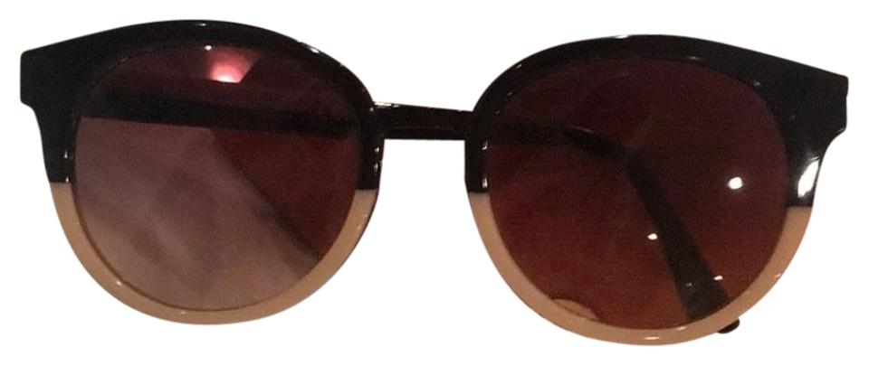 f36951caeeeb Tory Burch Black and Tan Eclectic Two-tone Sunglasses - Tradesy