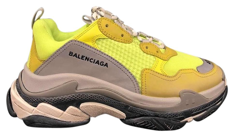 46f42e0fd1ba Balenciaga Triple Speed Trainer Sneaker Flat yellow Athletic Image 0 ...