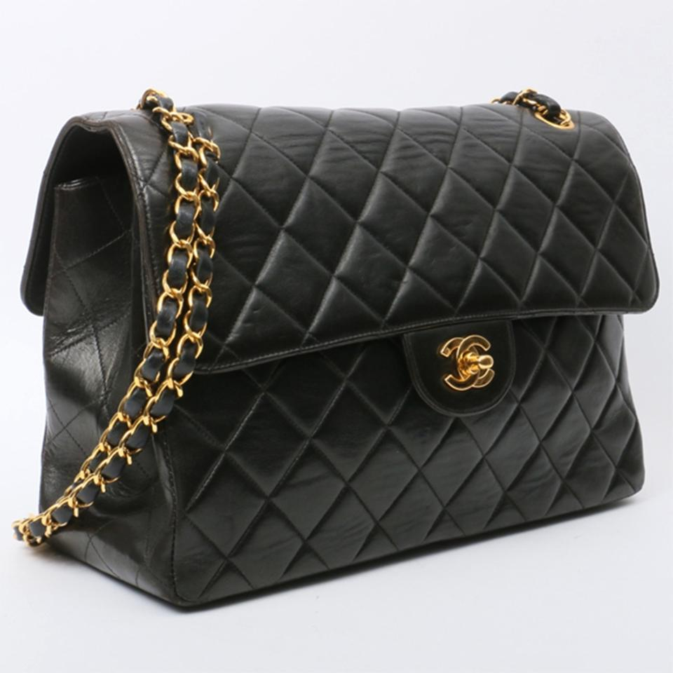 78768bfba163 Chanel Classic Flap Vintage Double Sided Black Lambskin Shoulder Bag -  Tradesy