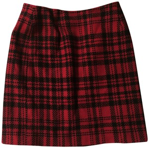 Eddie Bauer Vintage 80's Plaid Tartan Skirt Red, black