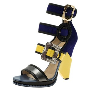 Jimmy Choo Kaya Multistrap Suede Leather Multicolour Sandals