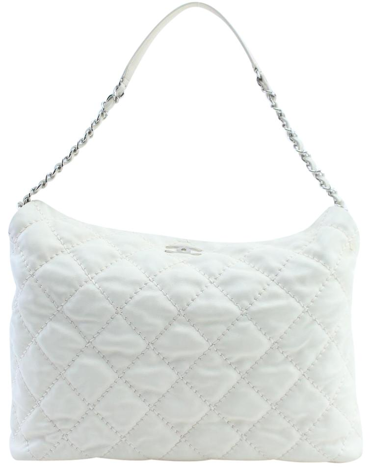 b0894f2e1558 Chanel Riviera Hobo French 13cr0228 Ivory Quilted Leather Shoulder ...