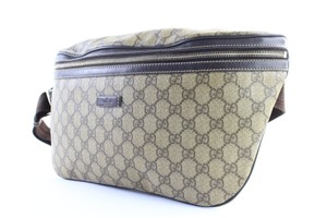 485f998178d Gucci Fanny Pack Waist 225981 Brown Monogram Supreme Canvas Cross ...