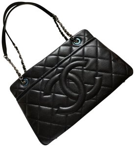 39c78c7ebf6856 Chanel Timeless Cc Soft Caviar Tote Black Leather Shoulder Bag - Tradesy