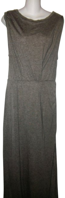 Item - Gray Jersey Sleeveless Stretch Long Casual Maxi Dress Size 10 (M)
