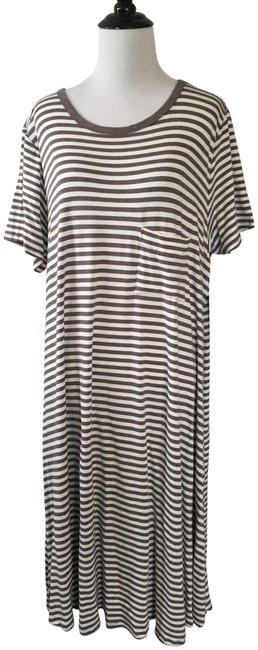 Item - Grey and White Carly Mid-length Casual Maxi Dress Size 18 (XL, Plus 0x)