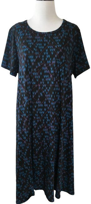 Item - Black Blue Red Carly Mid-length Casual Maxi Dress Size 12 (L)