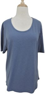 James Perse Sleeve Relaxed Fit Knit Scoop Neck T Shirt blue