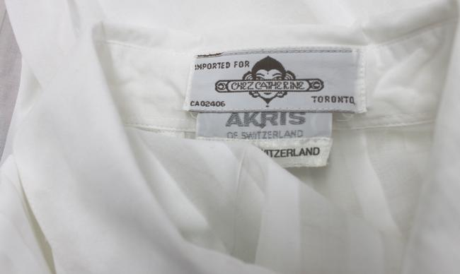 Akris Switzerland Cotton Shirt 36 Top WHITE