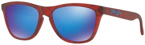 Oakley Oakley Men Cat Eye Sunglasses OO9013-B7 Red Frame Blue Polarized Lens