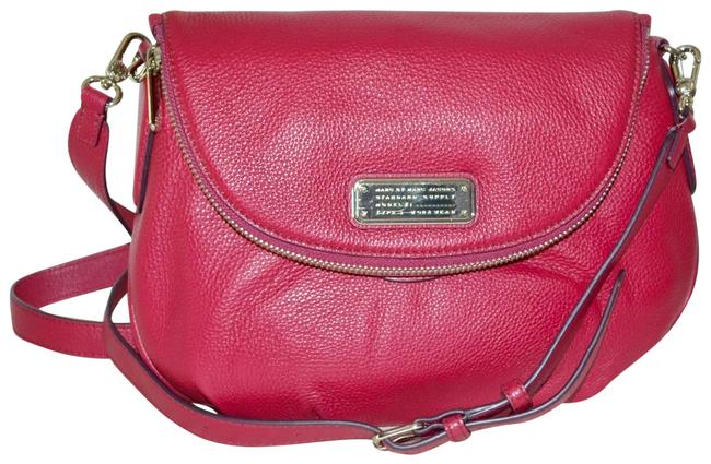Marc by Marc Jacobs New Q Natasha Med Peony Pink Leather Cross Body Bag Marc by Marc Jacobs New Q Natasha Med Peony Pink Leather Cross Body Bag Image 1