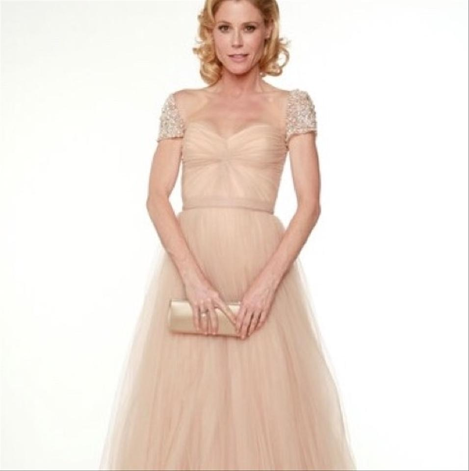 Reem Acra Very Light Blush Florence Gown Long Formal Dress Size 6 (S ...