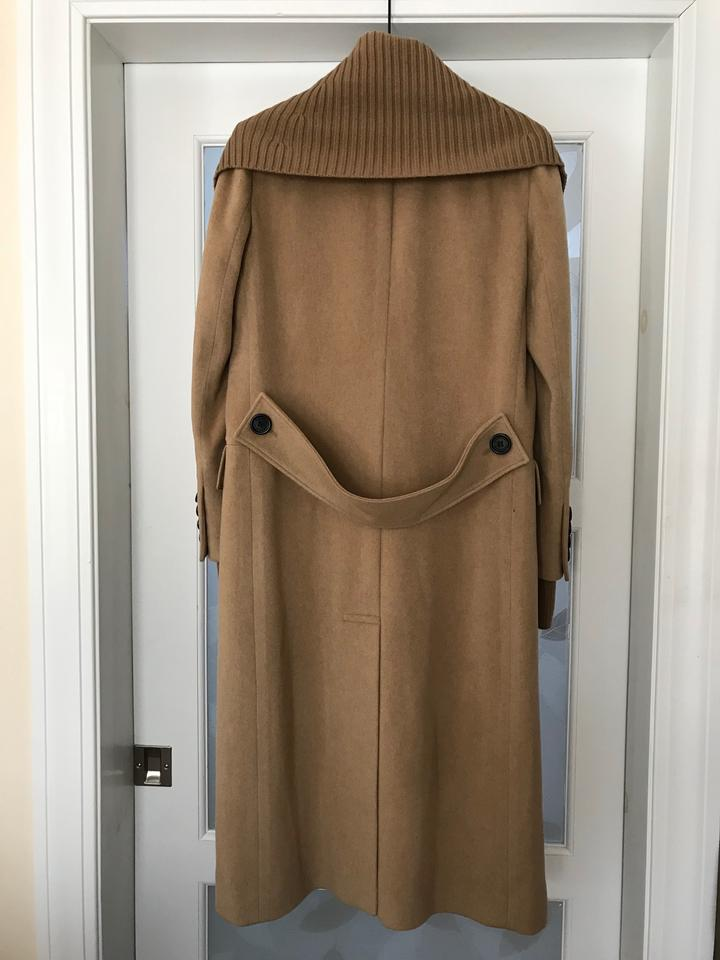9236719498 Burberry Camel Pure Cashmere Double-breasted Rib-collar Coat Size 6 (S) 39%  off retail
