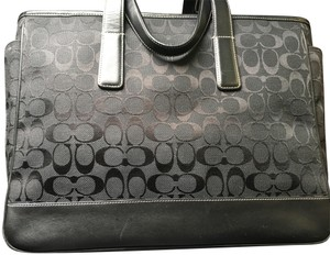 Coach Hampton Laptop Logo black Diaper Bag