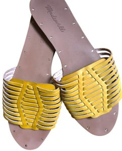 Madewell Yellow and Brown Sandals