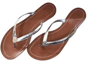 Tory Burch Slip On Terra Thong New Spring silver Sandals