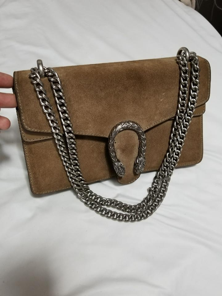 c4bac3cc677 Gucci Dionysus Small Taupe Suede Leather Shoulder Bag - Tradesy