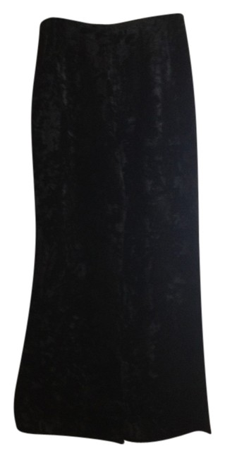 Whims Vintage Crushed Velvet Velvet Super Flare Pants black