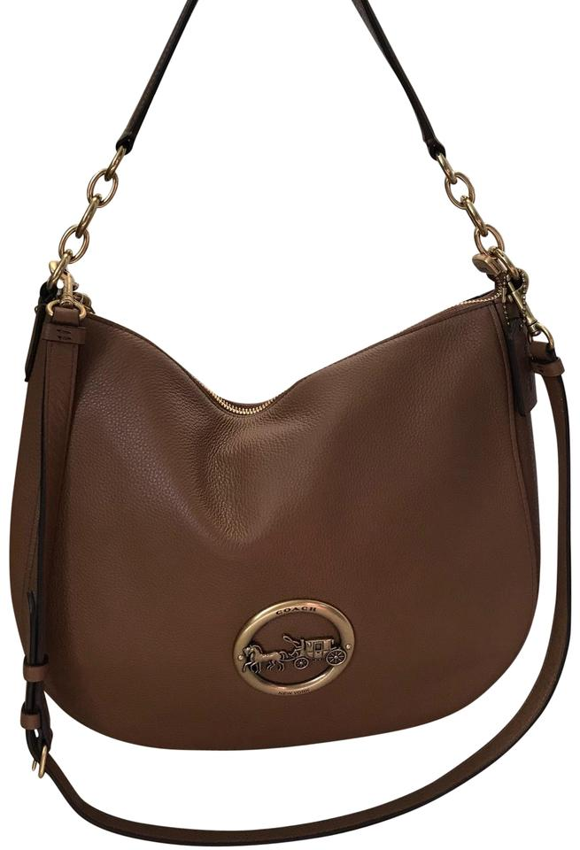 ... coupon for coach large round goldtone carriage lo brown leather hobo bag  tradesy 5322c 046e7 8f3fc59956766