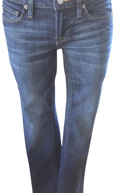Item - Patina Blue Dark Rinse Lily Baby Boot Straight Leg Jeans Size 25 (2, XS)
