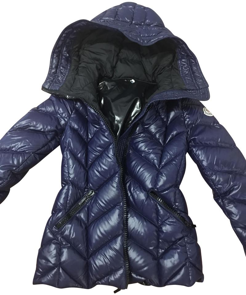 69bb25c05 Moncler Dark Purple/Dark Blue Badete Hooded Down Puffer Black Coat Size 00  (XXS) 58% off retail