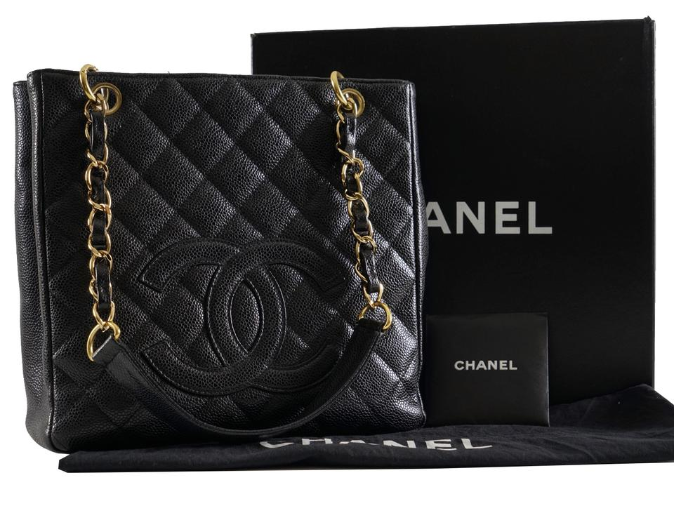 18dd065c49ef0a Chanel Tote Timeless Petite Shopper Ghw Black Caviar Leather Shoulder Bag